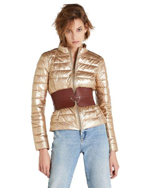 Zlatna ženska jakna - Patrizia Pepe