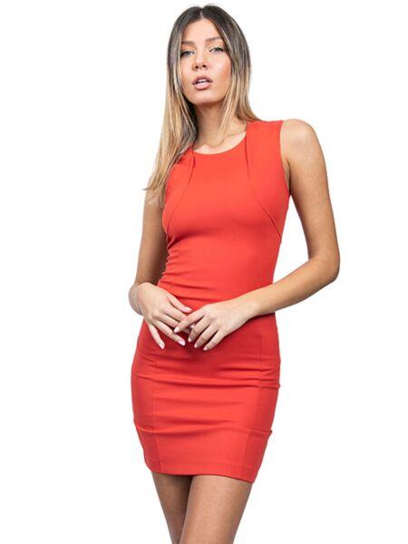 Patrizia Pepe - Poslovna narandžasta haljina