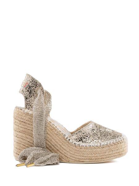 Platinaste sandale sa platformom - Replay