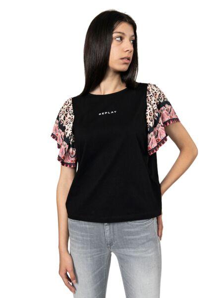 Majica sa lepršavim rukavima - Replay