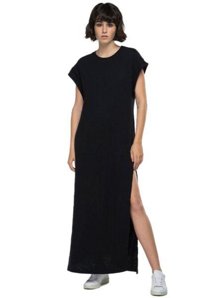 Replay - Dugačka crna haljina