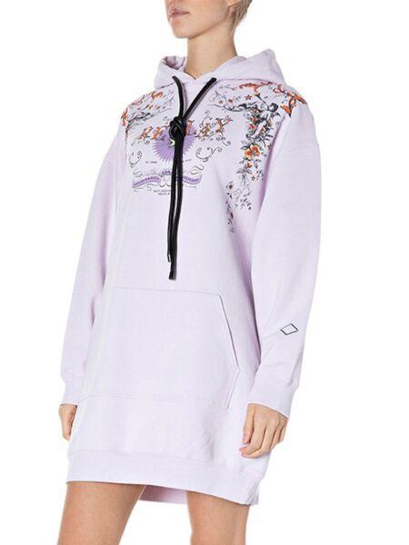 Replay - Lila duks-haljina sa kapuljačom