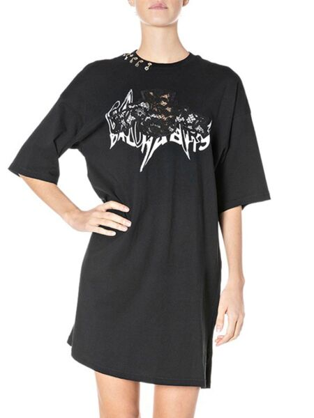 Replay - Crna majica-haljina
