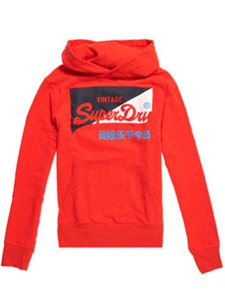 Crvena muška dukserica - Superdry