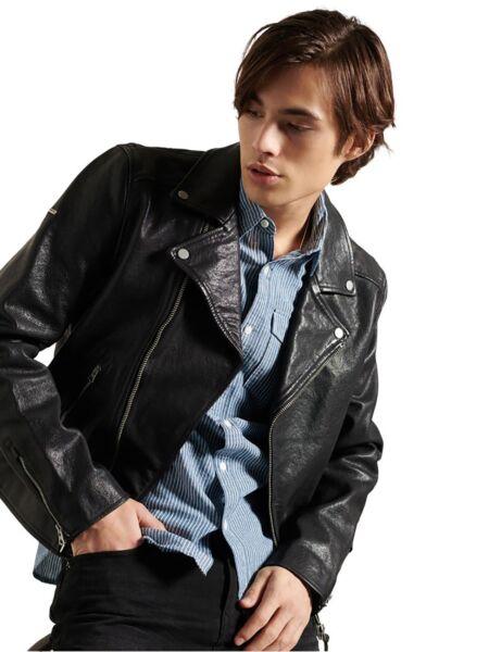 Kožna muška jakna - Superdry