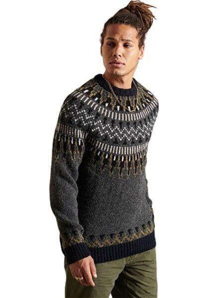 Superdry - Sivi muški džemper