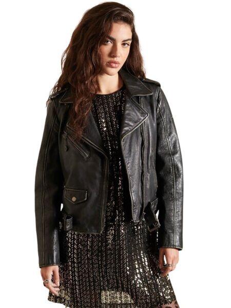 Superdry - Kožna ženska jakna
