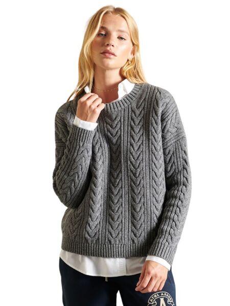 Superdry - Sivi ženski džemper