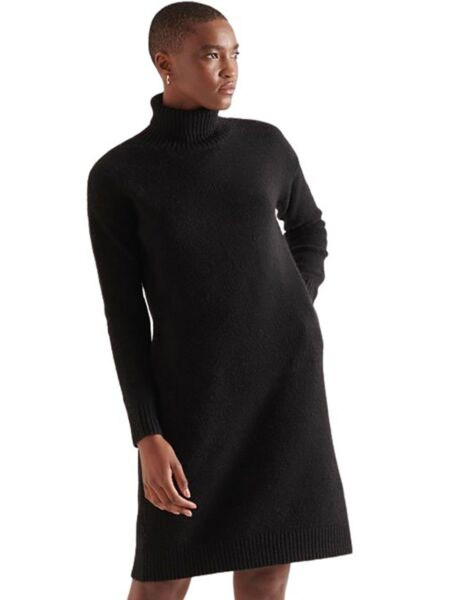 Superdry - Crna mini haljina