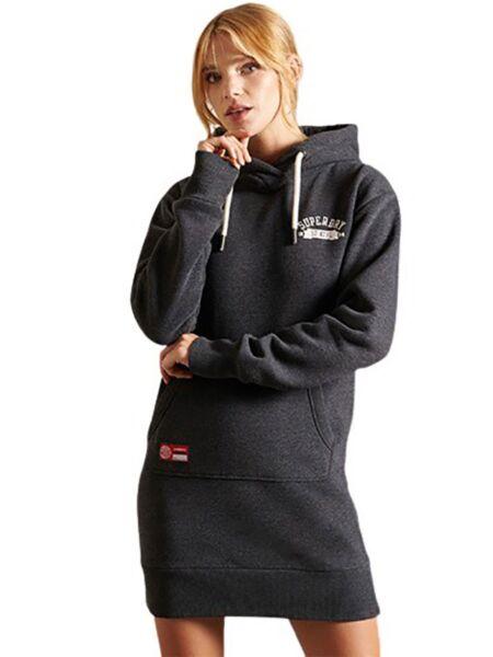 Superdry - Siva mini duks-haljina