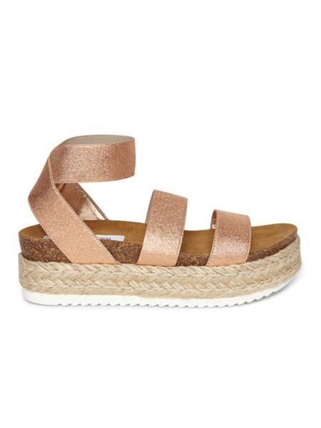 Zlatne ženske sandale - Steve Madden