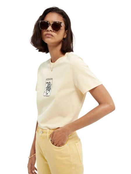 Scotch&Soda - Pastelno žuta ženska majica