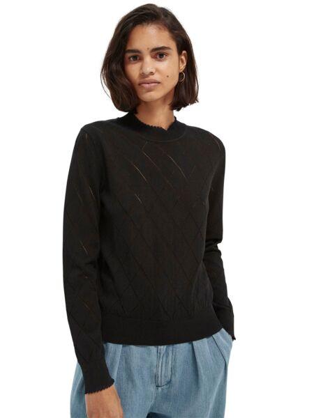 Scotch&Soda - Crni ženski džemper