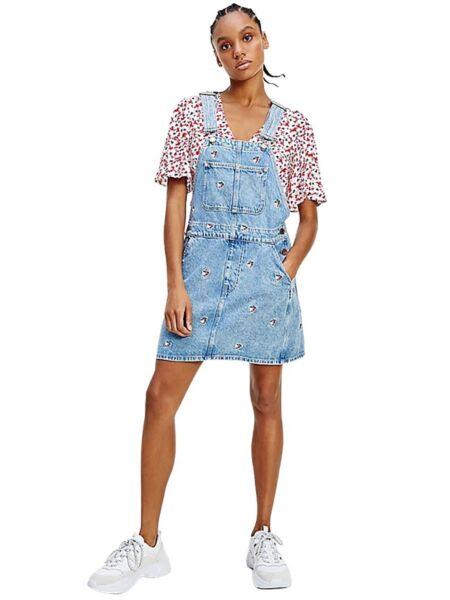 Tommy Hilfiger - Mini teksas haljina sa tregerima