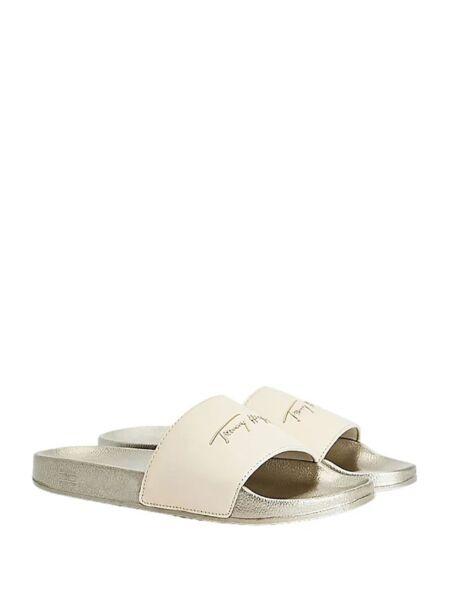 Tommy Hilfiger - Srebrne ženske papuče