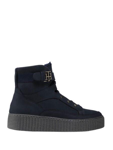 Tommy Hilfiger - Teget ženske čizme