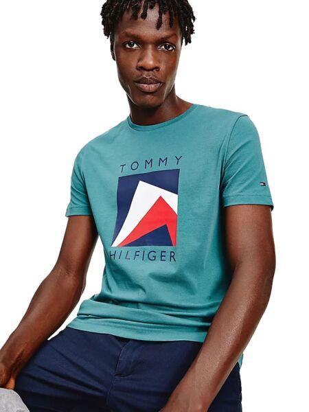 Tommy Hilfiger - Tirkizna muška majica