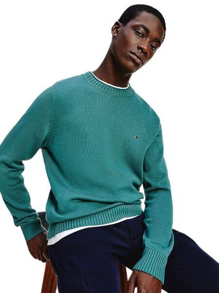 Tommy Hilfiger - Tirkizni muški džemper