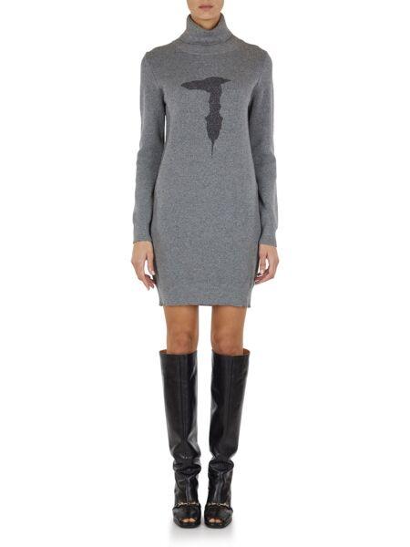 Trussardi - Siva mini haljina