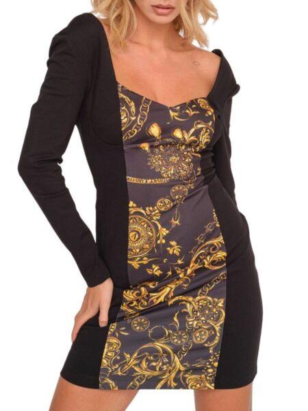 Versace Jeans Couture - Mini crna haljina