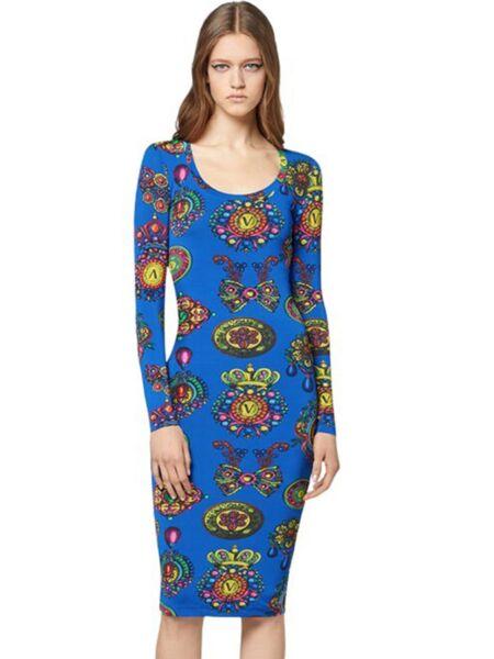 Versace Jeans Couture - Midi haljina sa printom