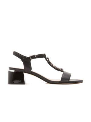 Crne sandale sa potpeticom - Bata