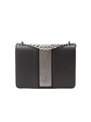 Crna torbica sa cirkonima - Bata