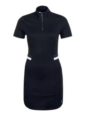 Crna uska haljina sa roll kragnom - Calvin Klein