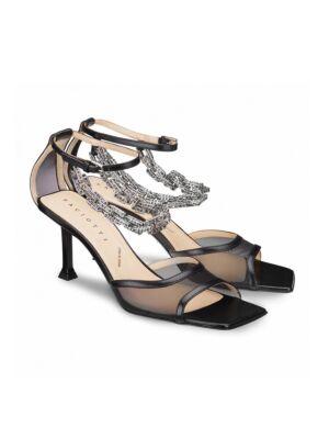 Crne sandale sa štiklom - Cesare Paciotti