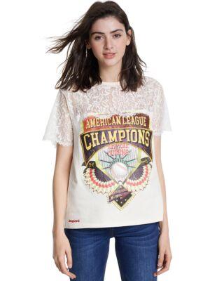 Ženska majica sa čipkom - Desigual