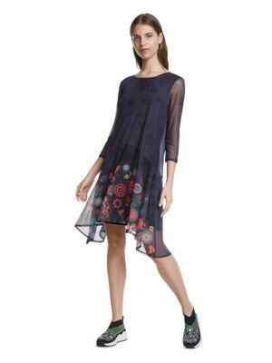 Teget haljina sa tilom - Desigual