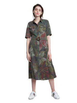 Maslinasta safari haljina - Desigual
