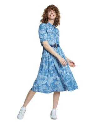 Teksas haljina sa cvetovima - Desigual