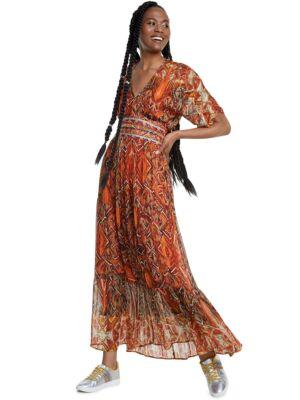 Lepršava maxi haljina - Desigual