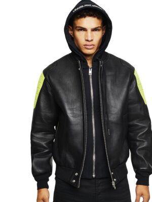 Muška kožna jakna sa kapuljačom - Diesel