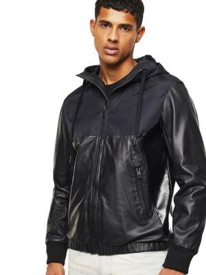 Crna muška kožna jakna - Diesel