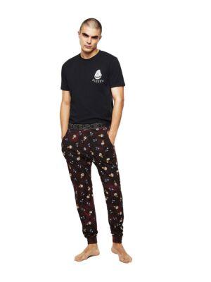 Muška pidžama - pamučni set sa printom - Diesel