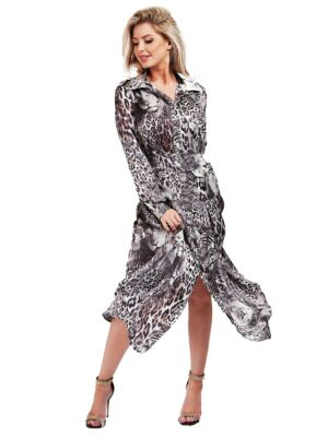 Maxi strukirana haljina - Guess