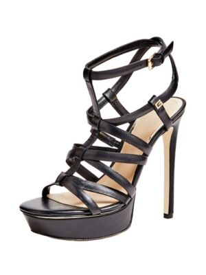 Crne sandale sa štiklom - Guess