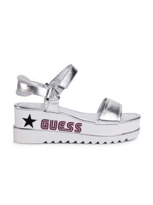 Srebrne ženske sandale - Guess
