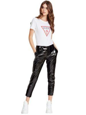 Ženske pantalone od sjajne eko kože - Guess