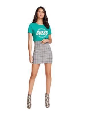 Karirana mini suknja - Guess