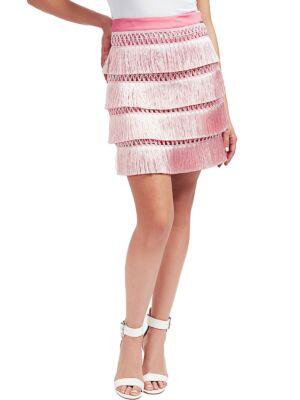 Roze suknja sa resicama - Guess