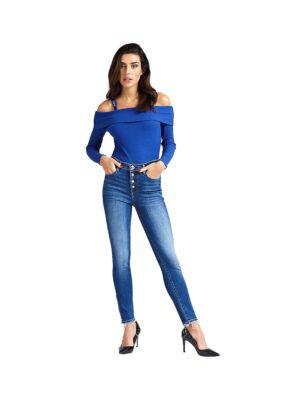 Uske ženske farmerke od plavog teksasa - Guess