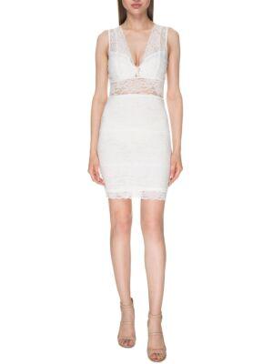 Mini haljina sa čipkom - Guess