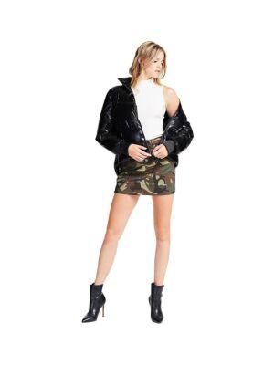 Ženska mini suknja sa military printom  - Guess
