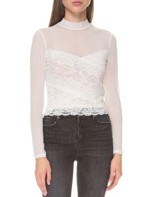 Čipkasta bijela bluza - Guess