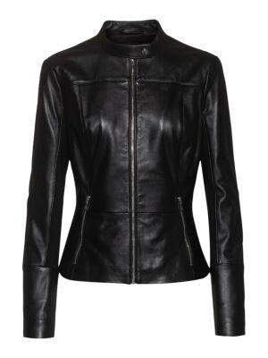 Kožna ženska jakna - HUGO