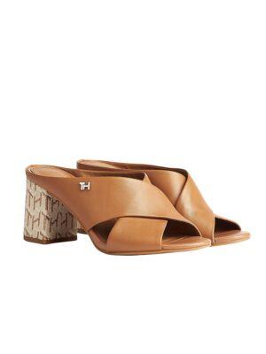 Braon papuče sa štiklom - Tommy Hilfiger