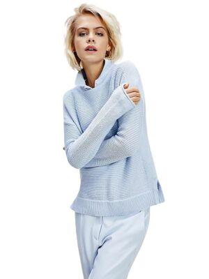 Plavi pleteni ženski džemper - Tommy Hilfiger